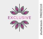 decorative vector logo in a...