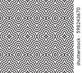 seamless pattern   modern... | Shutterstock .eps vector #598243670