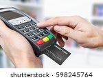 credit card swipe through...   Shutterstock . vector #598245764