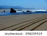Bandon Beach View Of Rocks In...
