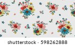 seamless floral pattern in... | Shutterstock .eps vector #598262888