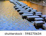 stepping stone   stream of... | Shutterstock . vector #598270634