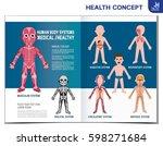 human body systems. anatomy... | Shutterstock .eps vector #598271684