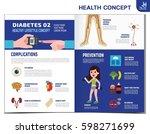 woman with diabetes. diabetic... | Shutterstock .eps vector #598271699