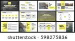 yellow and gray elements for... | Shutterstock .eps vector #598275836