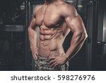 handsome caucasian sexy fitness ... | Shutterstock . vector #598276976