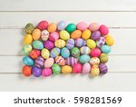 many fun and colorful dyed... | Shutterstock . vector #598281569
