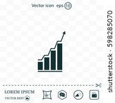 infographic. chart icon.... | Shutterstock .eps vector #598285070