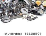 group automobile engine parts...   Shutterstock . vector #598285979
