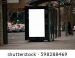 blank outdoor bus advertising...   Shutterstock . vector #598288469