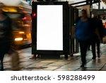 blank outdoor bus advertising... | Shutterstock . vector #598288499