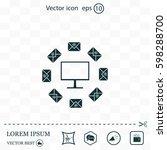 mail computer  vector... | Shutterstock .eps vector #598288700