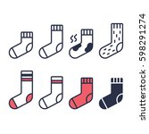 Socks Line Icons Set. Differen...