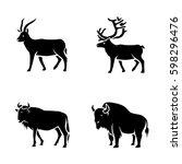 mammals vector icons | Shutterstock .eps vector #598296476
