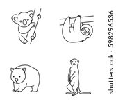 mammals vector icons | Shutterstock .eps vector #598296536