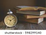 roman numeral in vintage alarm...   Shutterstock . vector #598299140