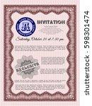 red formal invitation template. ...   Shutterstock .eps vector #598301474
