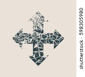 arrow cross. cracked grunge...   Shutterstock .eps vector #598305980
