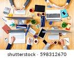 interacting as team for better... | Shutterstock . vector #598312670