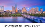 downtown skyline of austin ... | Shutterstock . vector #598314794