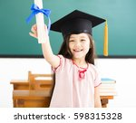 portrait of  cute schoolgirl... | Shutterstock . vector #598315328