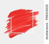 art abstract background brush... | Shutterstock .eps vector #598323020