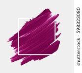 art abstract background brush... | Shutterstock .eps vector #598323080