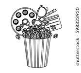 pop corn  film and clipart icon ...