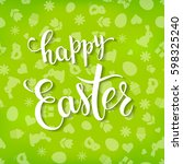 easter greeting card with  ... | Shutterstock .eps vector #598325240