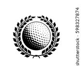 golf logo icon in trendy flat...