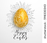 Happy Easter Gold Yellow...