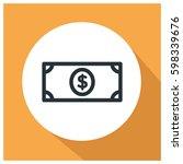 money vector icon | Shutterstock .eps vector #598339676