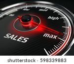 great sales   sales speedometer ... | Shutterstock . vector #598339883
