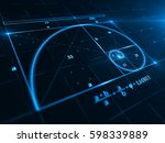 golden ratio   3d rendering | Shutterstock . vector #598339889