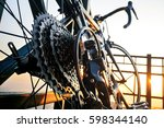 close up of a bicycle wheel... | Shutterstock . vector #598344140