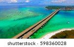 destin. redneck beach. florida. ... | Shutterstock . vector #598360028
