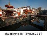 pashupatinath temple  kathmandu ...   Shutterstock . vector #598362314