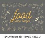 food icons design set.vector...   Shutterstock .eps vector #598375610