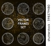 vector space frames with... | Shutterstock .eps vector #598379480