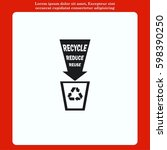 throw away the trash icon ... | Shutterstock .eps vector #598390250