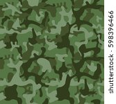 military green camouflage. camo ...   Shutterstock .eps vector #598396466