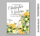 wedding invitation card... | Shutterstock .eps vector #598398854