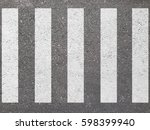 crosswalk on the road for... | Shutterstock . vector #598399940