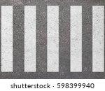 crosswalk on the road for... | Shutterstock . vector #598399940