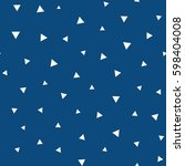 seamless pattern with triangles.... | Shutterstock .eps vector #598404008