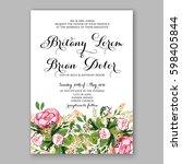 wedding invitation card... | Shutterstock .eps vector #598405844