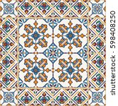 vector seamless texture.... | Shutterstock .eps vector #598408250