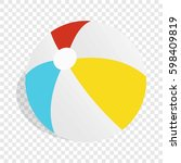 colorful ball isometric icon 3d ... | Shutterstock . vector #598409819