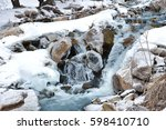 a little mountain river... | Shutterstock . vector #598410710