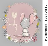 cute little mouse | Shutterstock .eps vector #598414550
